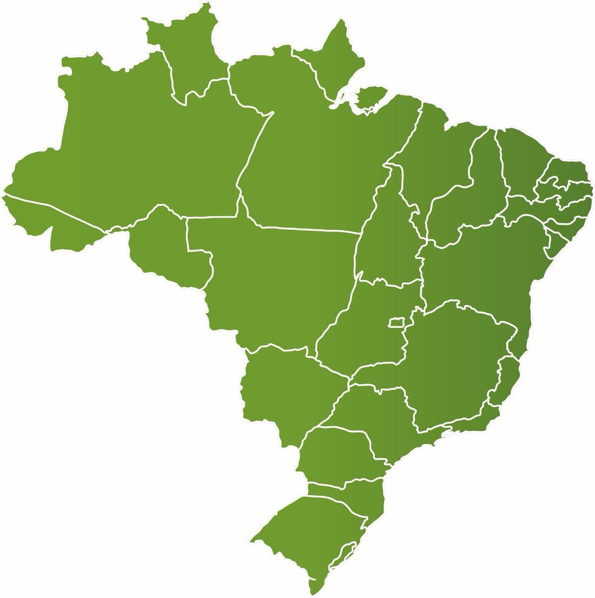mapa brasil estados Adesivo Parede Mapa Brasil Estado Mapa 1 Metro X 1 Decoração   R  mapa brasil estados