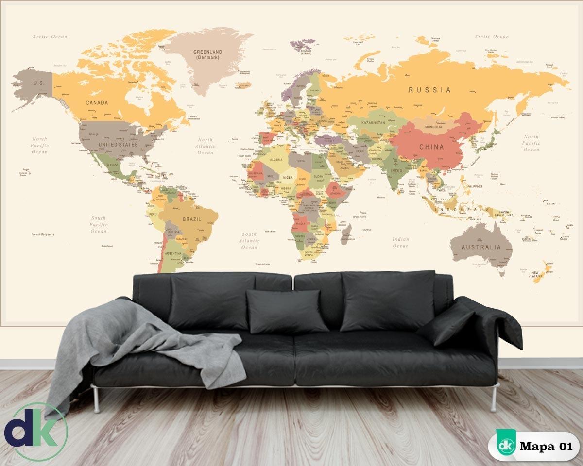 788588a93 adesivo parede- mapa mundi mapa01 dekorarte. Carregando zoom.