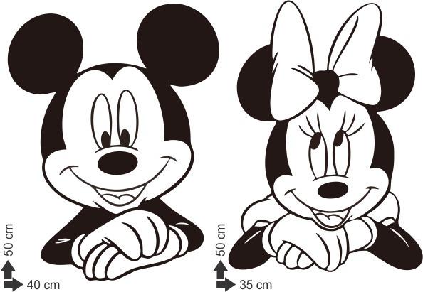 Adesivo Parede Mickey Minnie Mouse Cabeceira Disney Desenho R