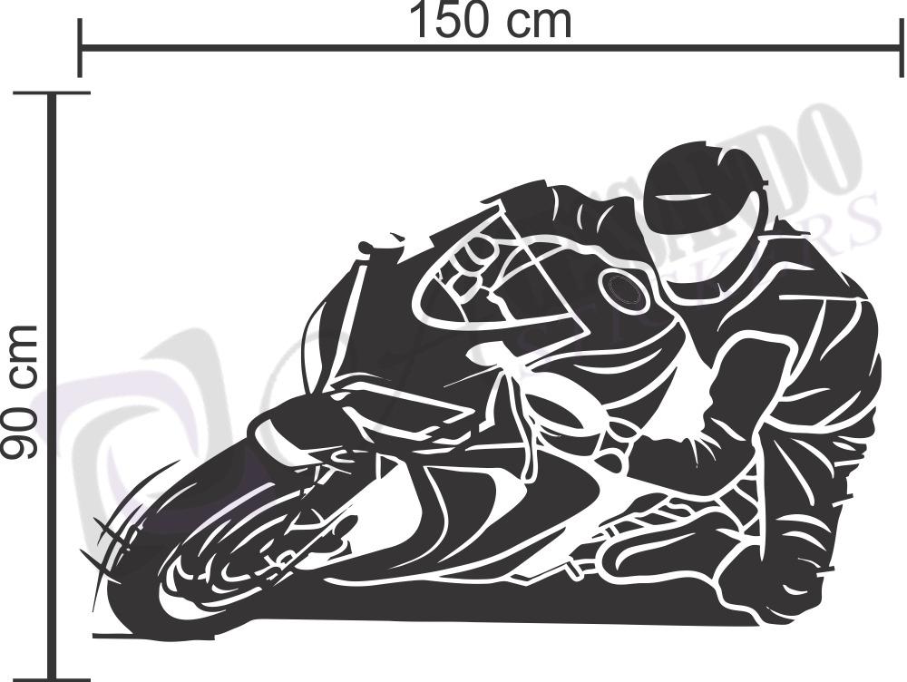 adesivo parede motovelocidade moto corrida ninja r1 promoção r
