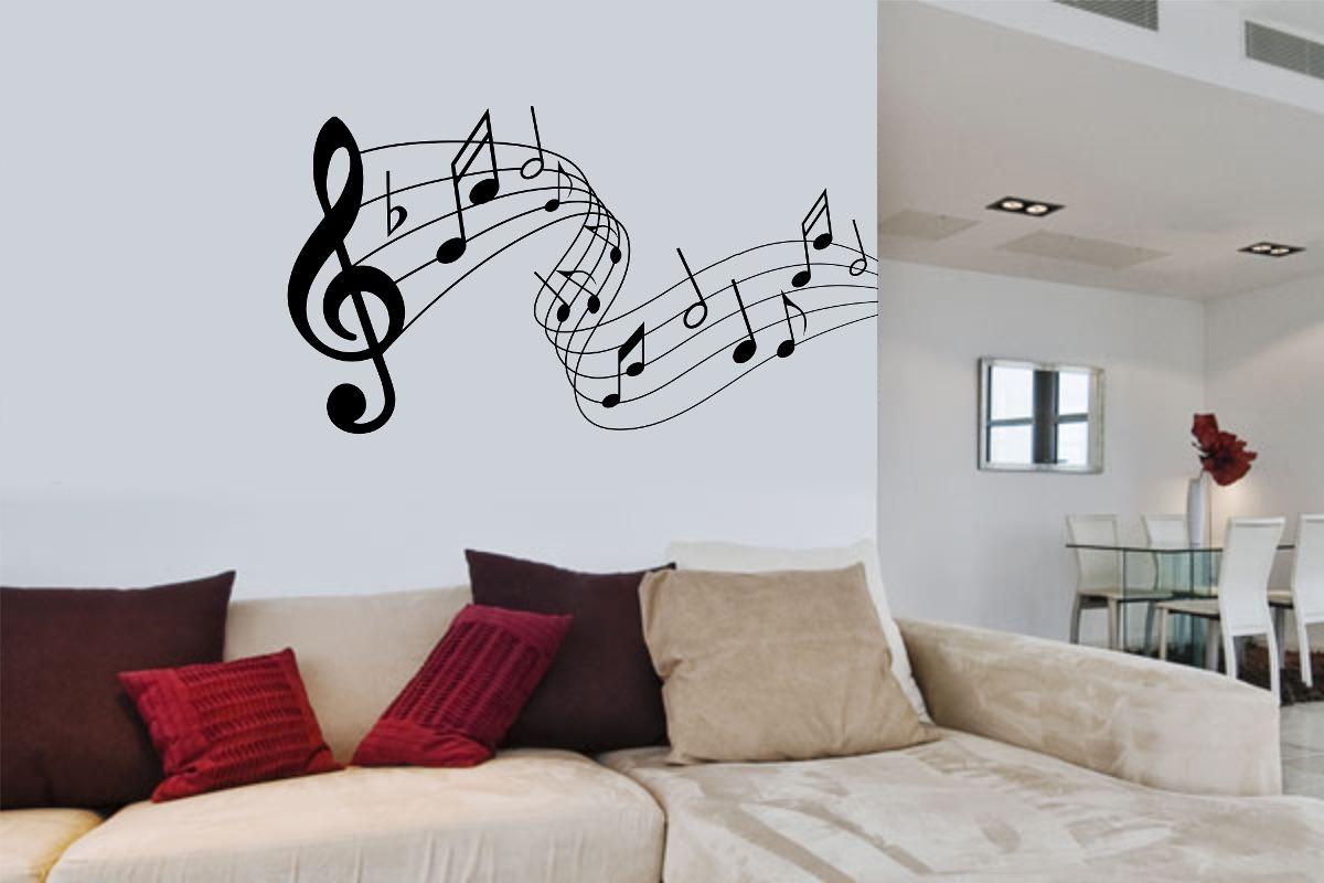 Armario Para Consultorio Odontologico Com Pia ~ Adesivo Parede Música Decorativo Notas Musicais 72x36cm
