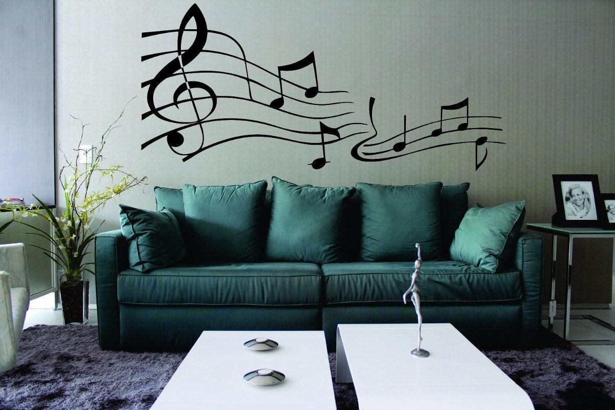 #416A6A  Notas Musicais Musical Guitarra Violão R$ 32 99 em Mercado Livre 1200x800 px papel de parede para banheiro mercado livre