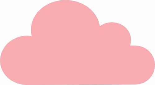 Qual O Artesanato Das Ostras ~ Adesivo Parede Nuvem Rosa Bebe 100pç Infantil Menina 7 X 4cm R$ 45,00 em Mercado Livre