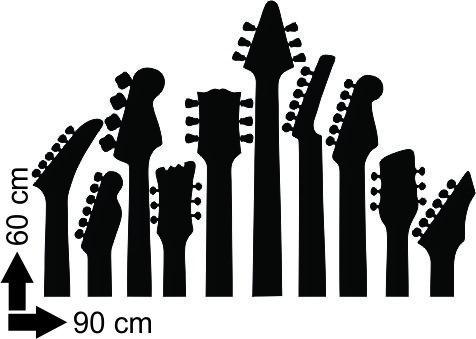 adesivo parede para cabeceira cama guitarra quarto música