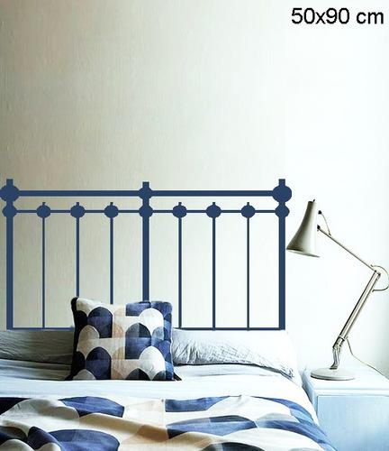 adesivo parede para cabeceira cama quarto solteiro 50x90 cm