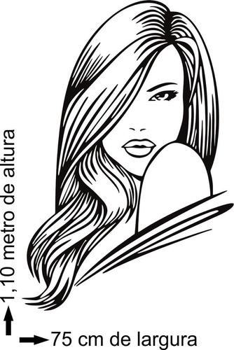 adesivo parede para salão de beleza cabeleireiros penteados
