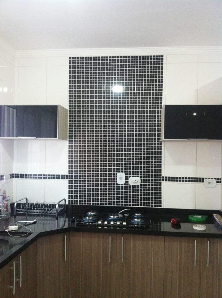 Aparador Rommanel ~ Adesivo Parede Pastilhas Cozinha E Banheiro Azulejo Grande