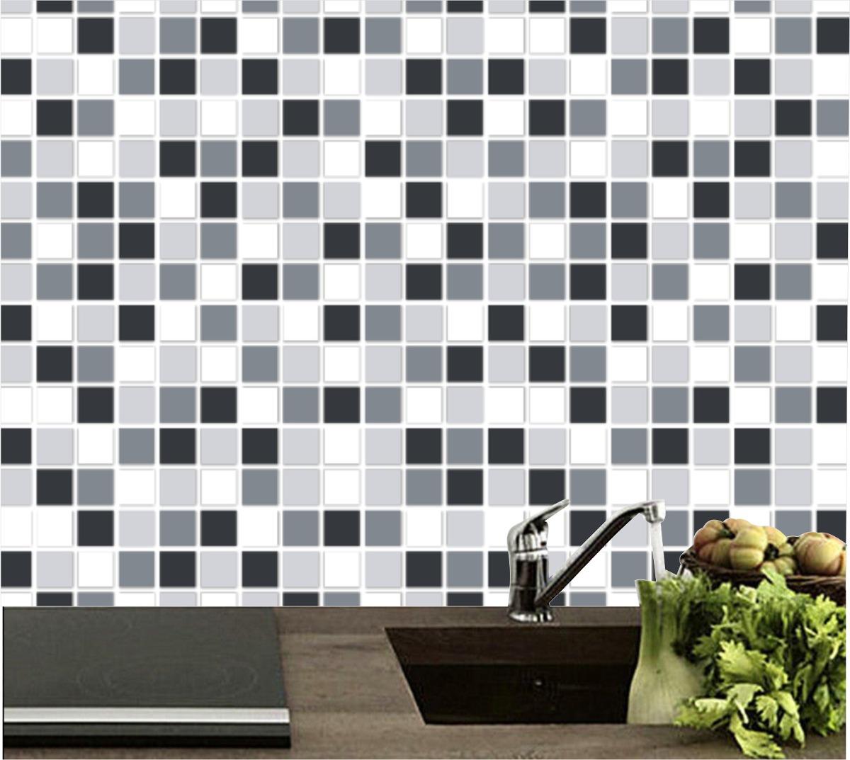 0782a2d9a adesivo parede pastilhas cozinha lavável vinílico grande. Carregando zoom.