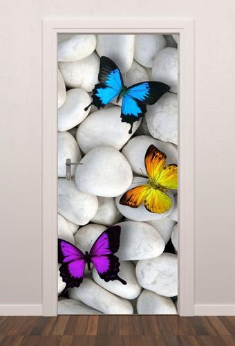 adesivo parede porta borboletas quarto sala
