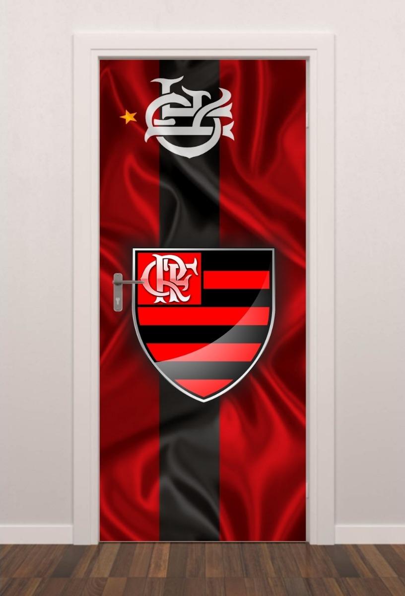 adesivo parede porta futebol flamengo quarto sala. Carregando zoom. afce09047d4f2