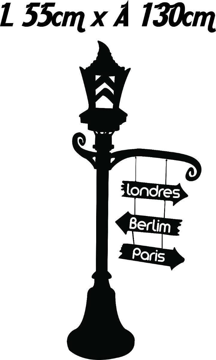 f4ee791ab Armario Para Cozinha Planejado ~ Adesivo Parede Poste De Luz Placas Cidades  Europa Londres R
