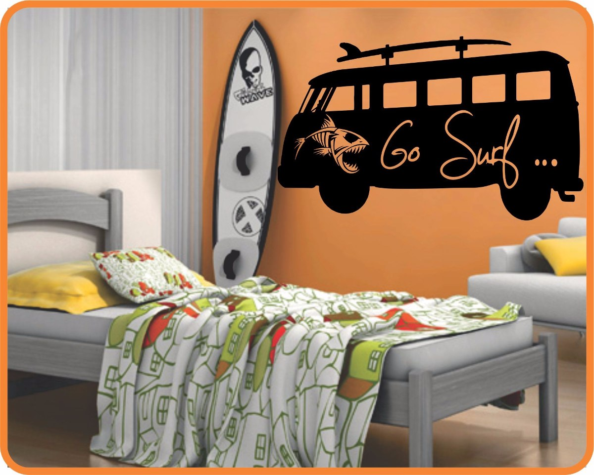 df8106234 adesivo parede prancha surf kombi decoração 1 metro x 50 cm. Carregando  zoom.