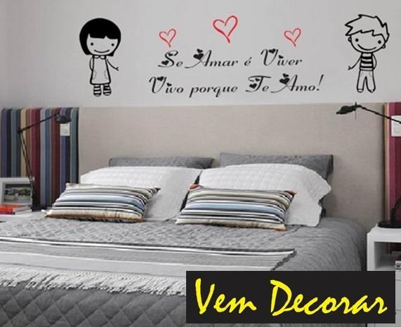 Adesivo Parede Frases Românticas Casa Quarto Cama Amor Casal R 74