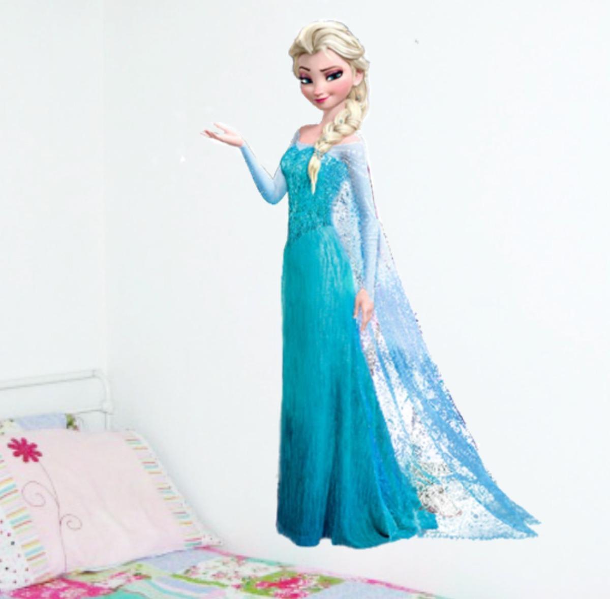 Aparador Walmart ~ Adesivo De Parede Frozen Quarto Porta Menina Olaf Elsa Lindo R$ 60,90 em Mercado Livre