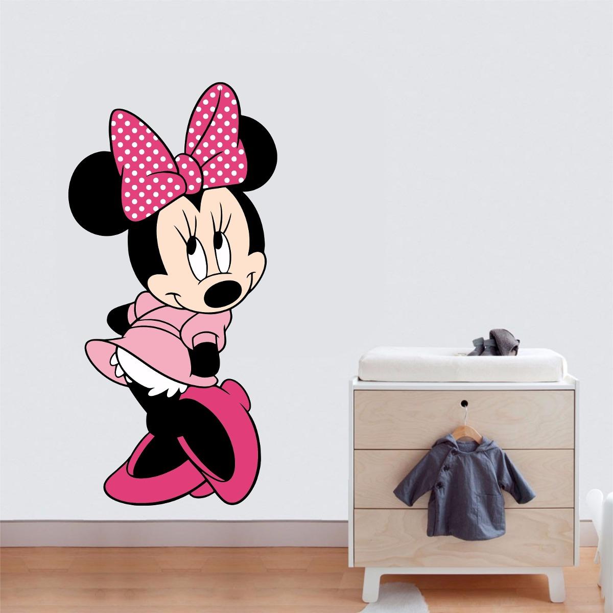 750475686c adesivo parede quarto cabeceira infantil minnie cor de rosa. Carregando  zoom.
