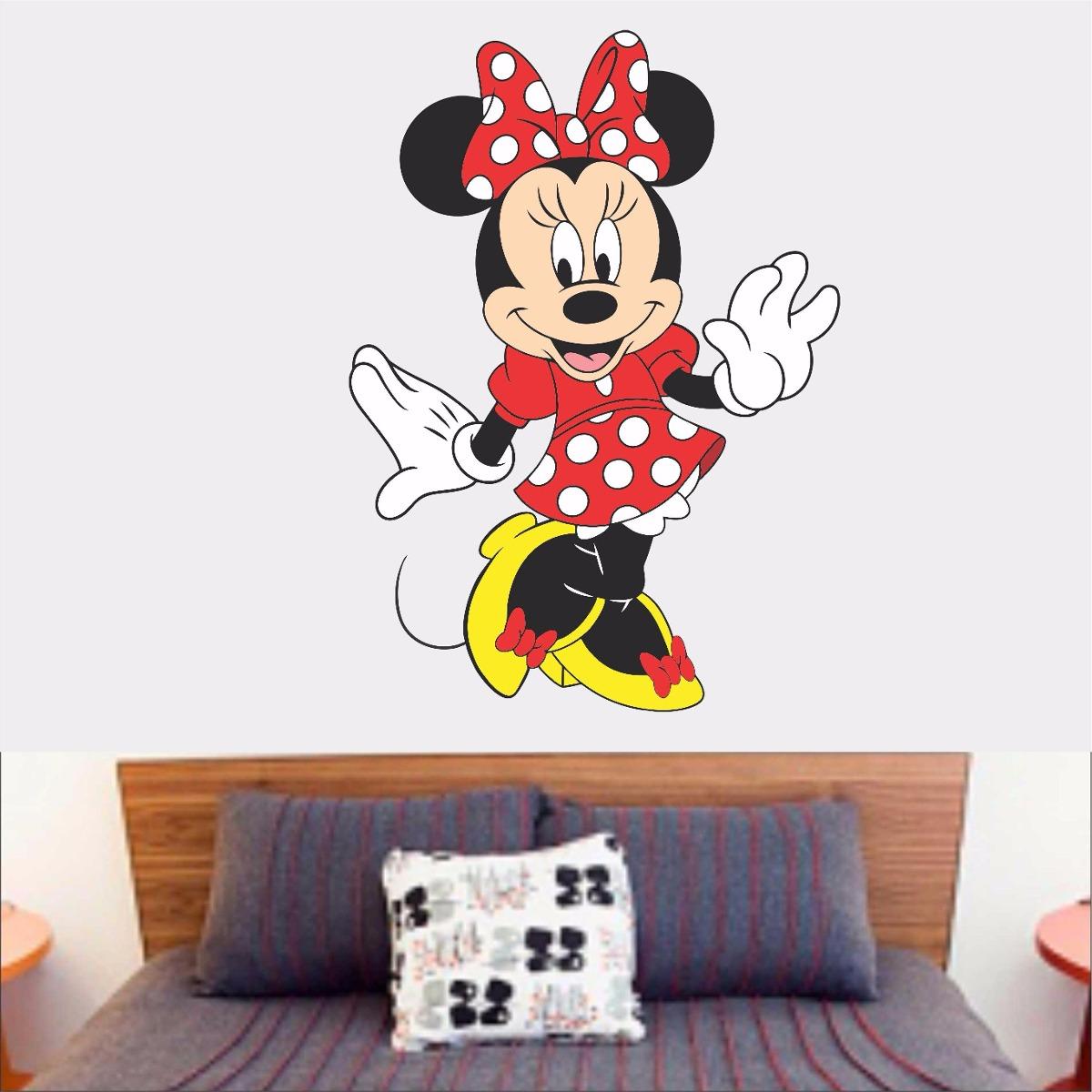 79698e2b4c adesivo parede quarto cabeceira infantil minnie vermelha. Carregando zoom.
