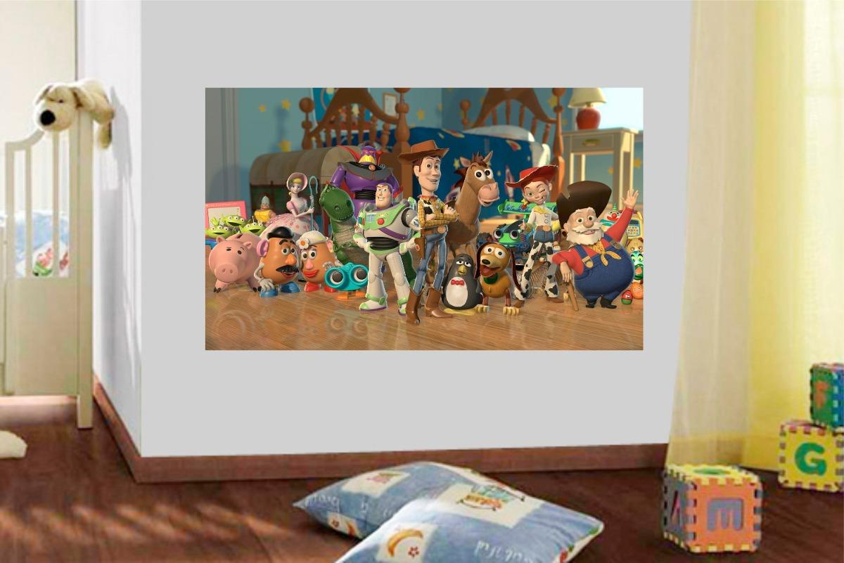 Adesivo Parede Quarto Crian A Infantil Desenho Toy Story R 49  ~ Desenhos Para Quarto Infantil E Foto De Quarto De Menino