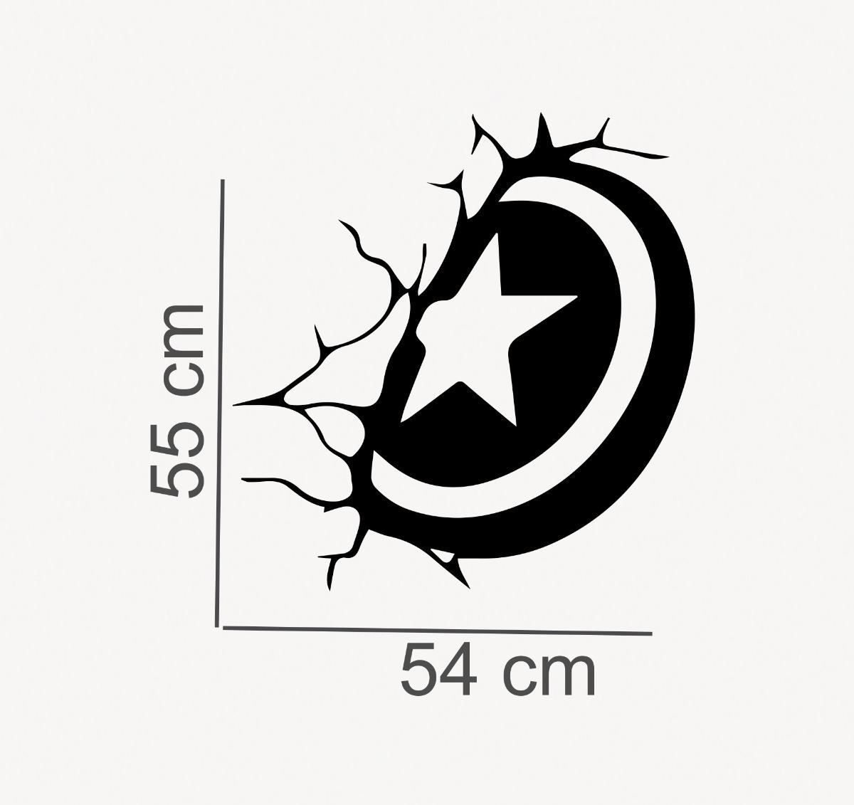 Adesivo Parede Quarto Escudo Capitao America 55x54 Cm R 32 90