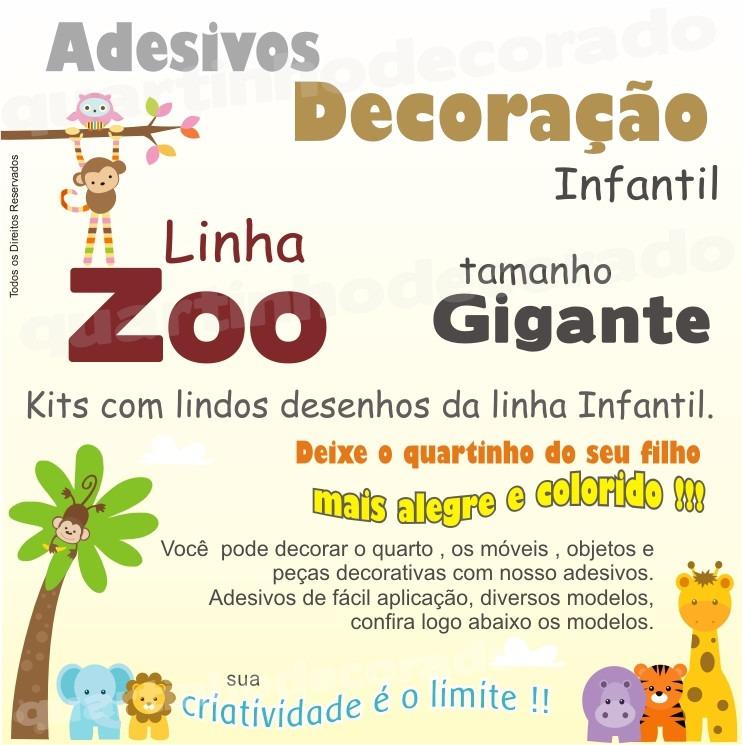 Aparador Pequeno Preto ~ Adesivo Papel De Parede Quarto Infantil Corujinha Zoo Bicho R$ 148,00 em Mercado Livre