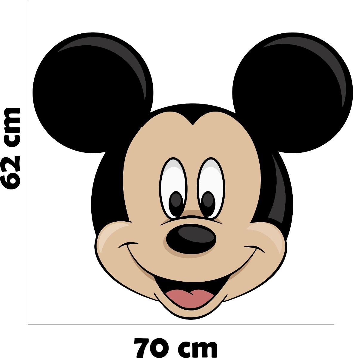 Armario Blanco Barato ~ Adesivo Parede Quarto Infantil Criança Mickey Rosto Disney R$ 39,99 em Mercado Livre