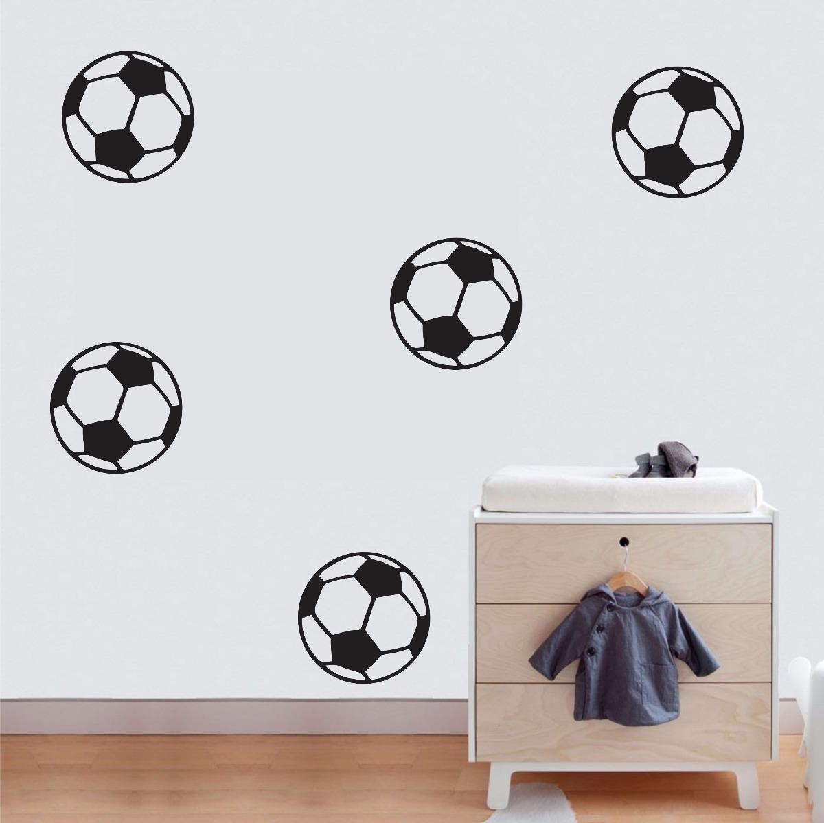adesivo parede quarto infantil esporte futebol kit bolas. Carregando zoom. 333eaf83beaf3