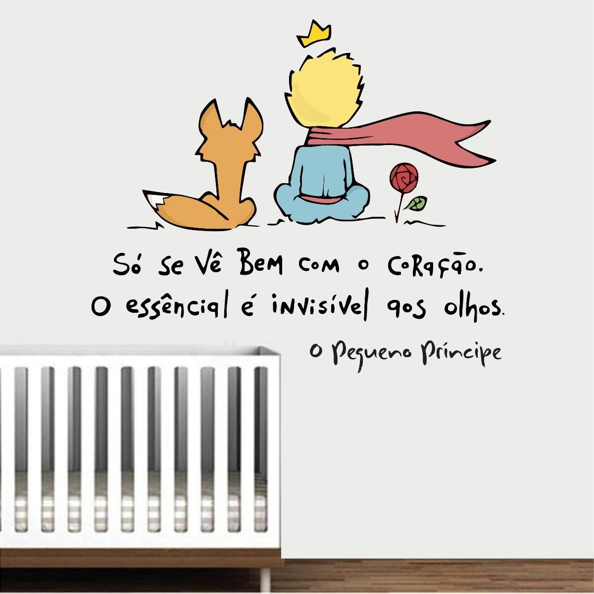 Adesivo Parede Quarto Infantil Pequeno Príncipe Frase Livro R 54