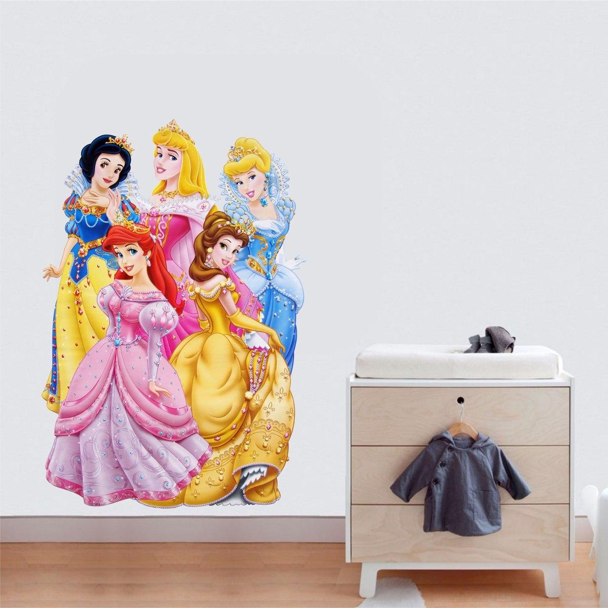 Adesivo De Parede Cinderela Princesas Disney Quarto Casa M Veis  ~ Decoração Quarto Infantil Princesas
