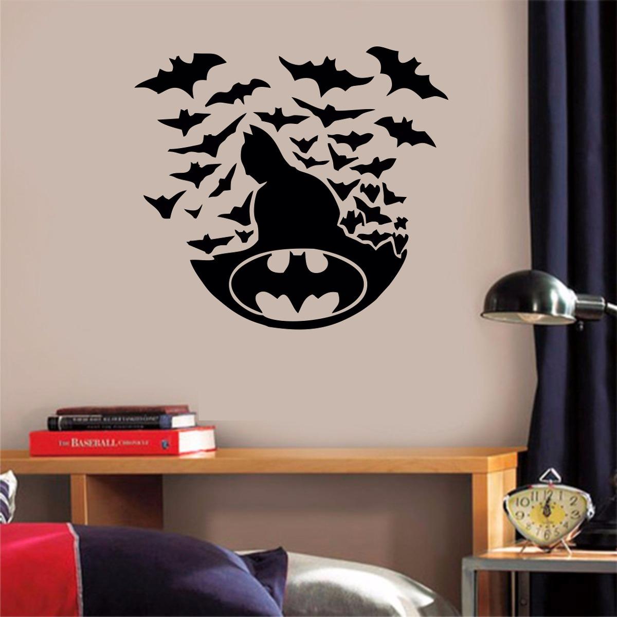 fb20eadbde9a51 Adesivo Parede Quarto Infantil Super Heroi Batman Coringa