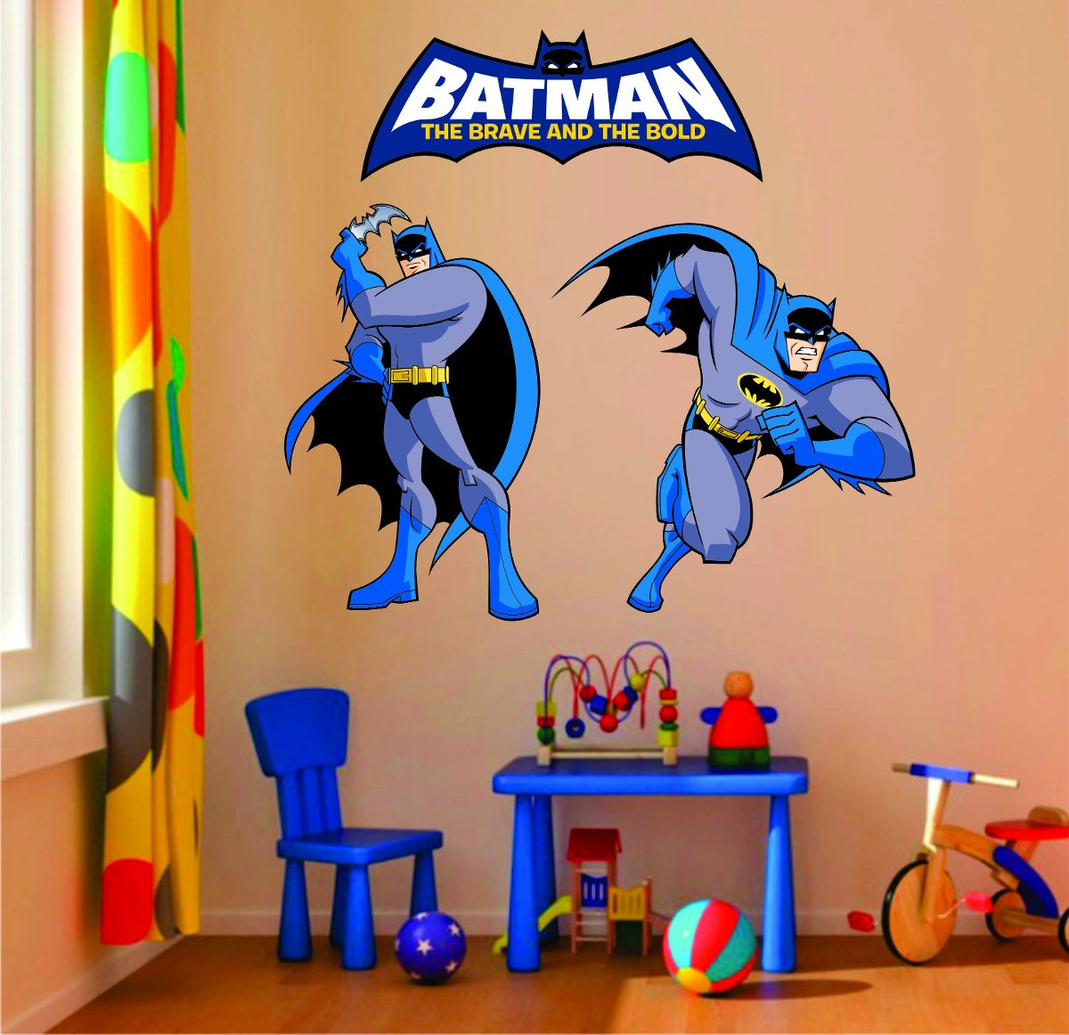 bce43beb7d3f5a Adesivo Parede Quarto Infantil Super Herói Batman Escudo