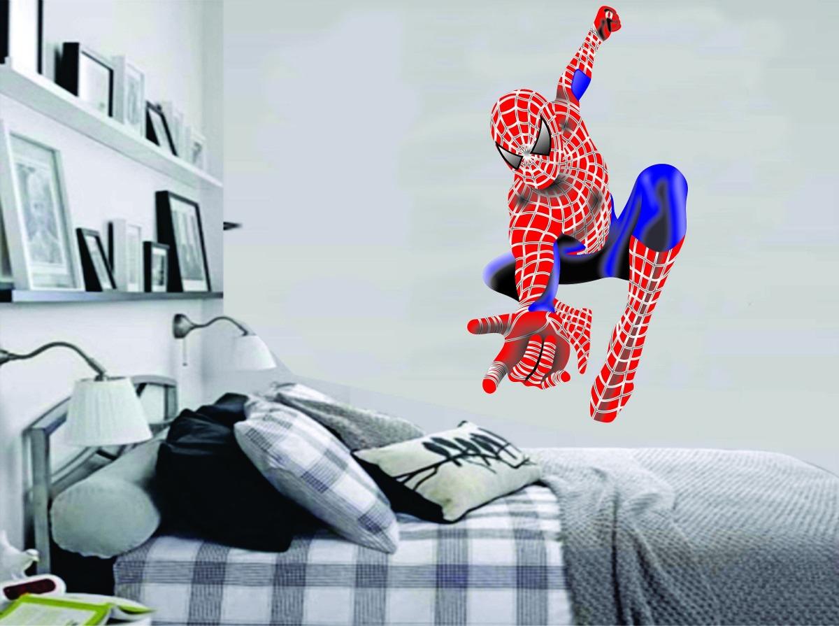 Aparador Pequeno Preto ~ Adesivo Parede Quarto Infantil Super Herói Homem Aranha R$ 39,99 em Mercado Livre
