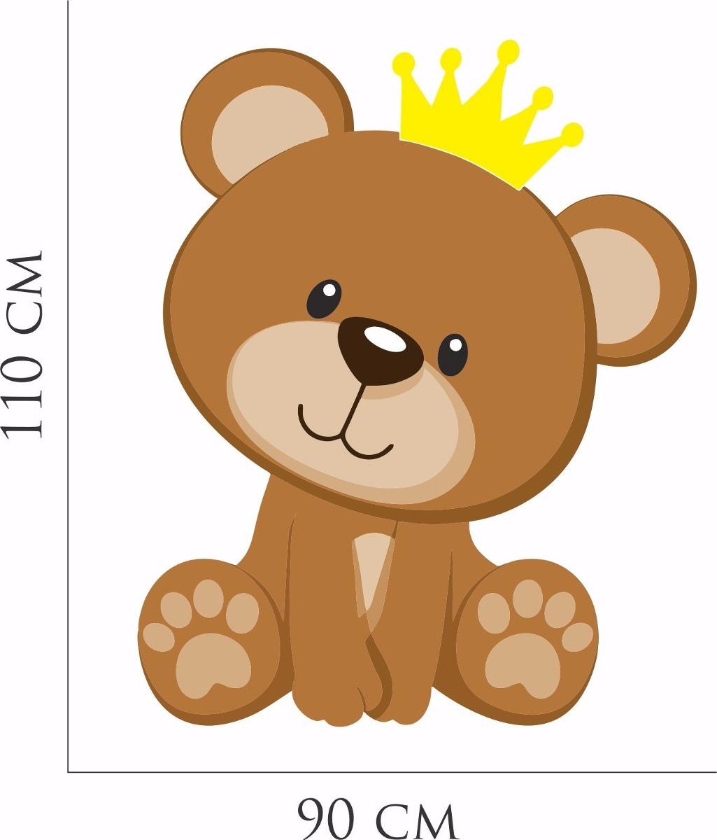 Armario De Cozinha Em Ingles ~ Adesivo Parede Quarto Infantil Ursinho Coroa Principe Urso R$ 49,99 em Mercado Livre