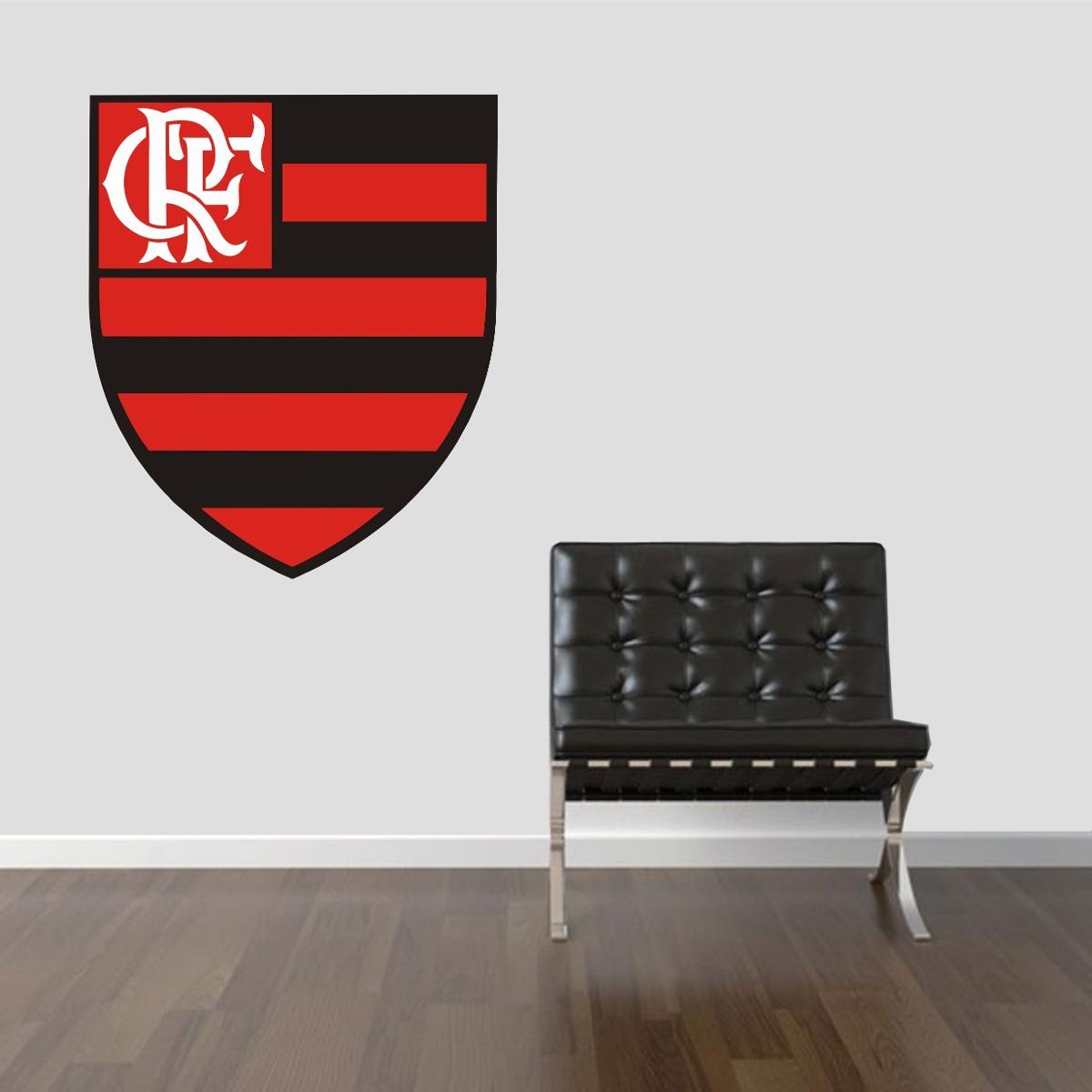 adesivo parede quarto sala escudo time flamengo mengão. Carregando zoom. 2ea6eb79979d7