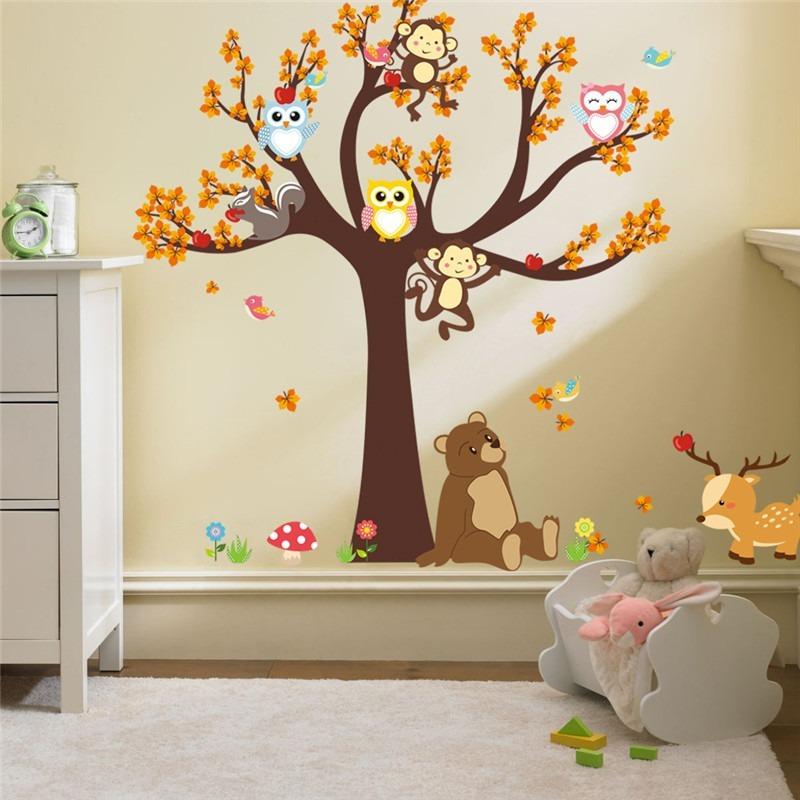 Armario Ikea Pax Roble ~ Adesivo Parede Safari Infantil Criança Menino Menina + Brind R$ 79,90 em Mercado Livre