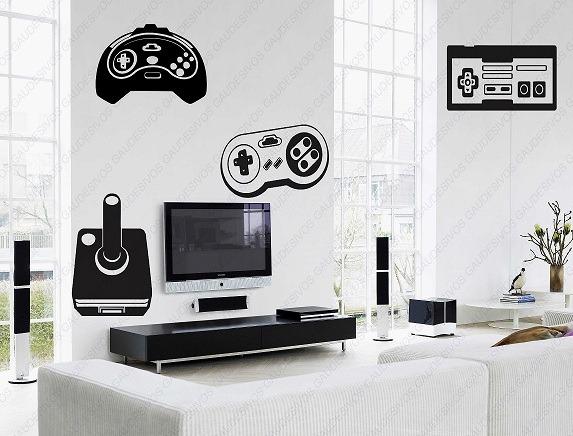 Adesivo De Mesversario ~ Adesivo De Parede Decorativo 4 Controle De Video Game Sala R$ 35,83 em Mercado Livre