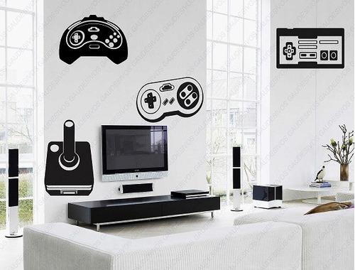 Artesanato Sergipano ~ Adesivo De Parede Decorativo 4 Controle De Video Game Sala