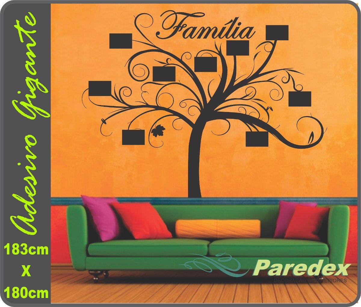 Adesivo Parede Rvore Geneal Gica Porta Retrato Sala Quarto R 120  -> Parede Grafiada Sala