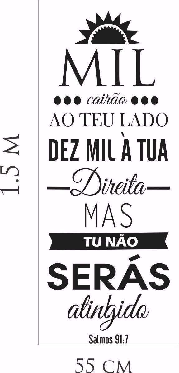 Adesivo Parede Sala Frase Salmos Mil Cairão Ao Teu Lado R 6999