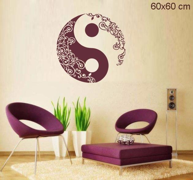 Adesivo Delineador Agustin ~ Adesivo Parede Sala Quarto Mandala Yin Yang R$ 39,50 em Mercado Livre