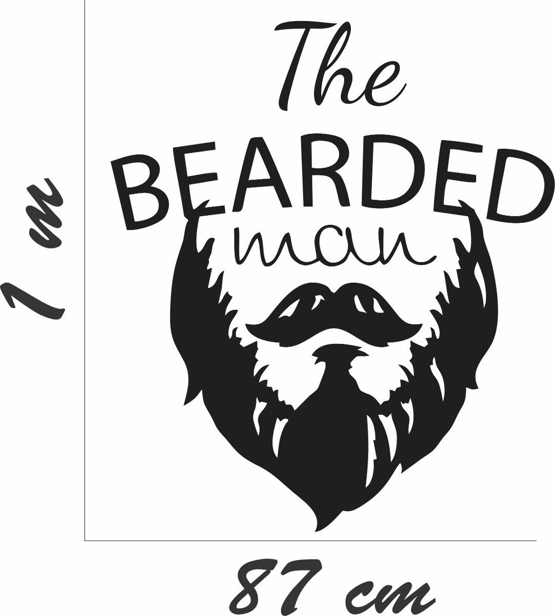 Artesanato Para Vender Passo A Passo ~ Adesivo Parede Sal u00e3o Beleza Barbearia Barba Bigode R$ 49