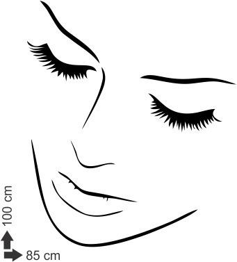 adesivo parede salão de beleza cabeleireiros mulher 85x100cm