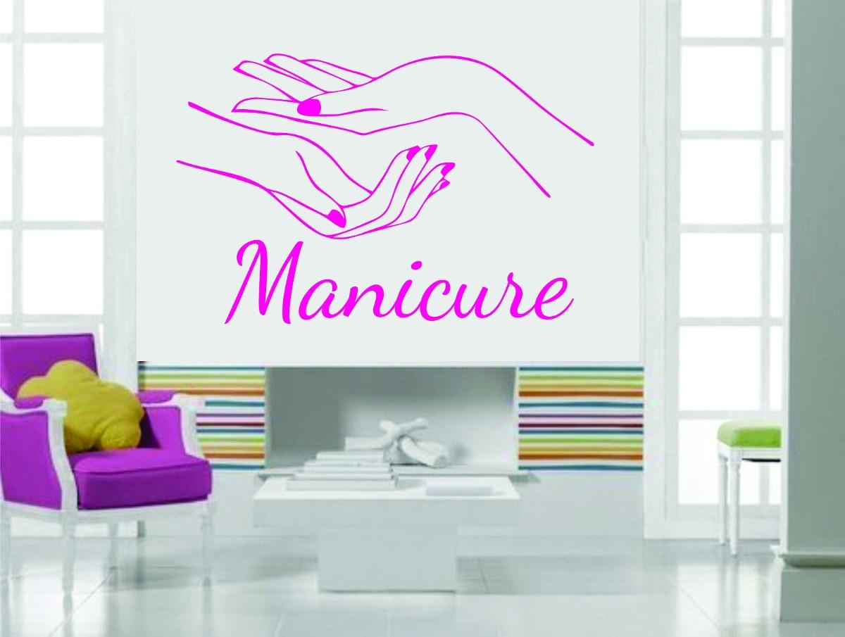 Aparador Ferro Mercado Livre ~ Adesivo Parede Sal u00e3o De Beleza Cabelo Manicure Unha Esmalte R$ 39,99 em Mercado Livre