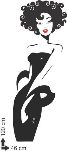 adesivo parede salão de beleza porta estética mulher cabelo
