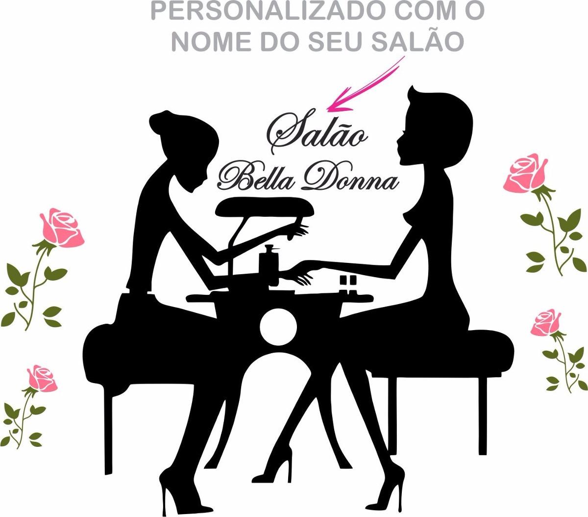 Artesanato Em Ubatuba ~ Adesivo Parede Sal u00e3o Manicure Beleza 1,4 Metro Personalizado R$ 120,00 em Mercado Livre