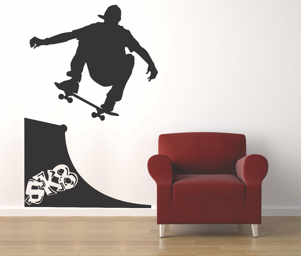 8a4a68c48931b Adesivo Parede Skate Rampa 1