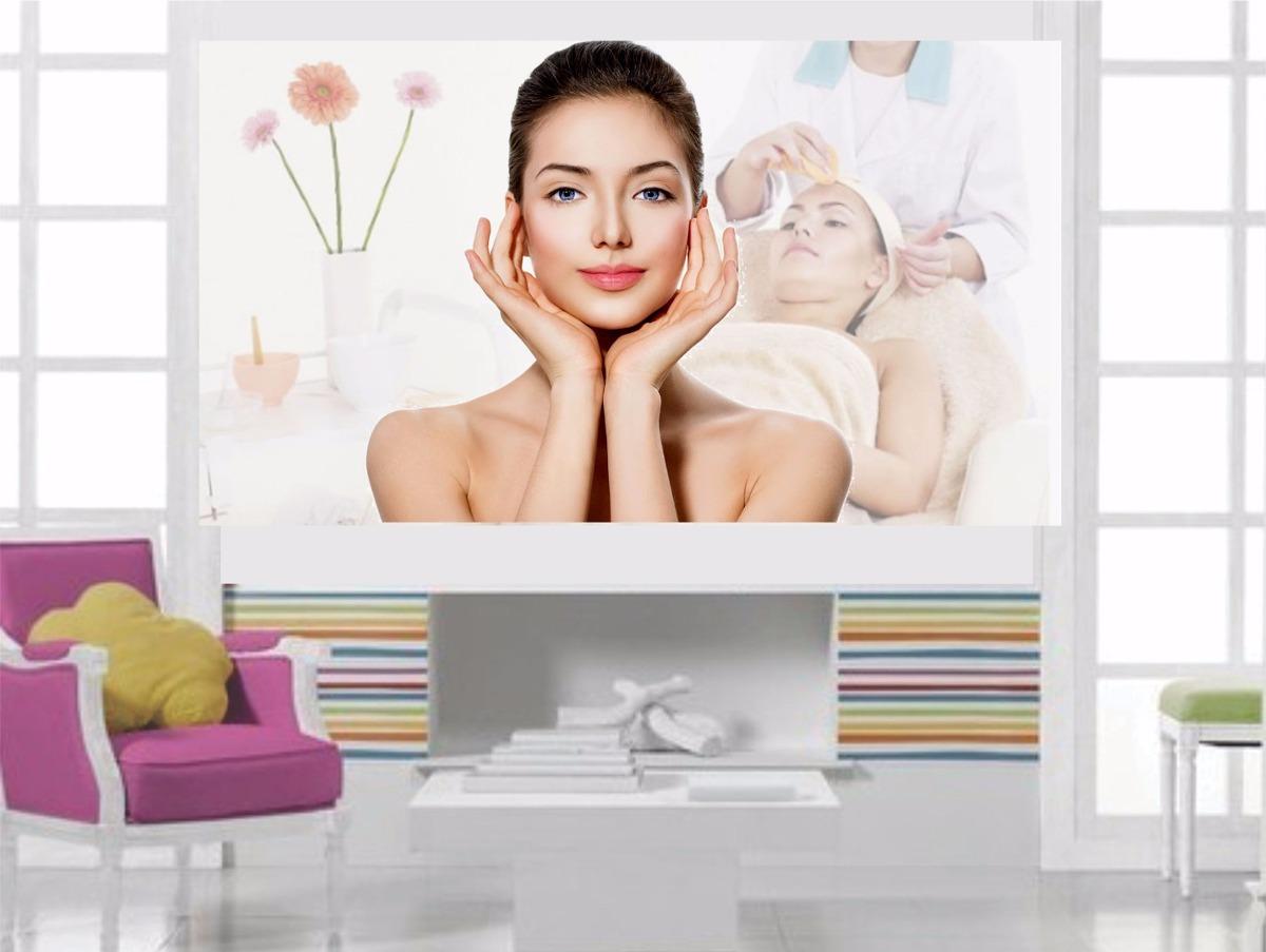 Adesivo Parede Spa Est Tica Bem Estar Massagem Sal O B5 R 49 99  -> Adesivo De Parede Estetica
