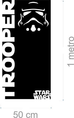 adesivo parede star wars storm trooper grande 1,5 metro jedi