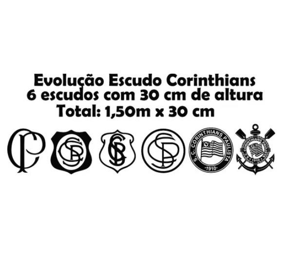 44b8c91b8e Adesivo Parede Timão Evolução Escudo Corinthians Fiel 1