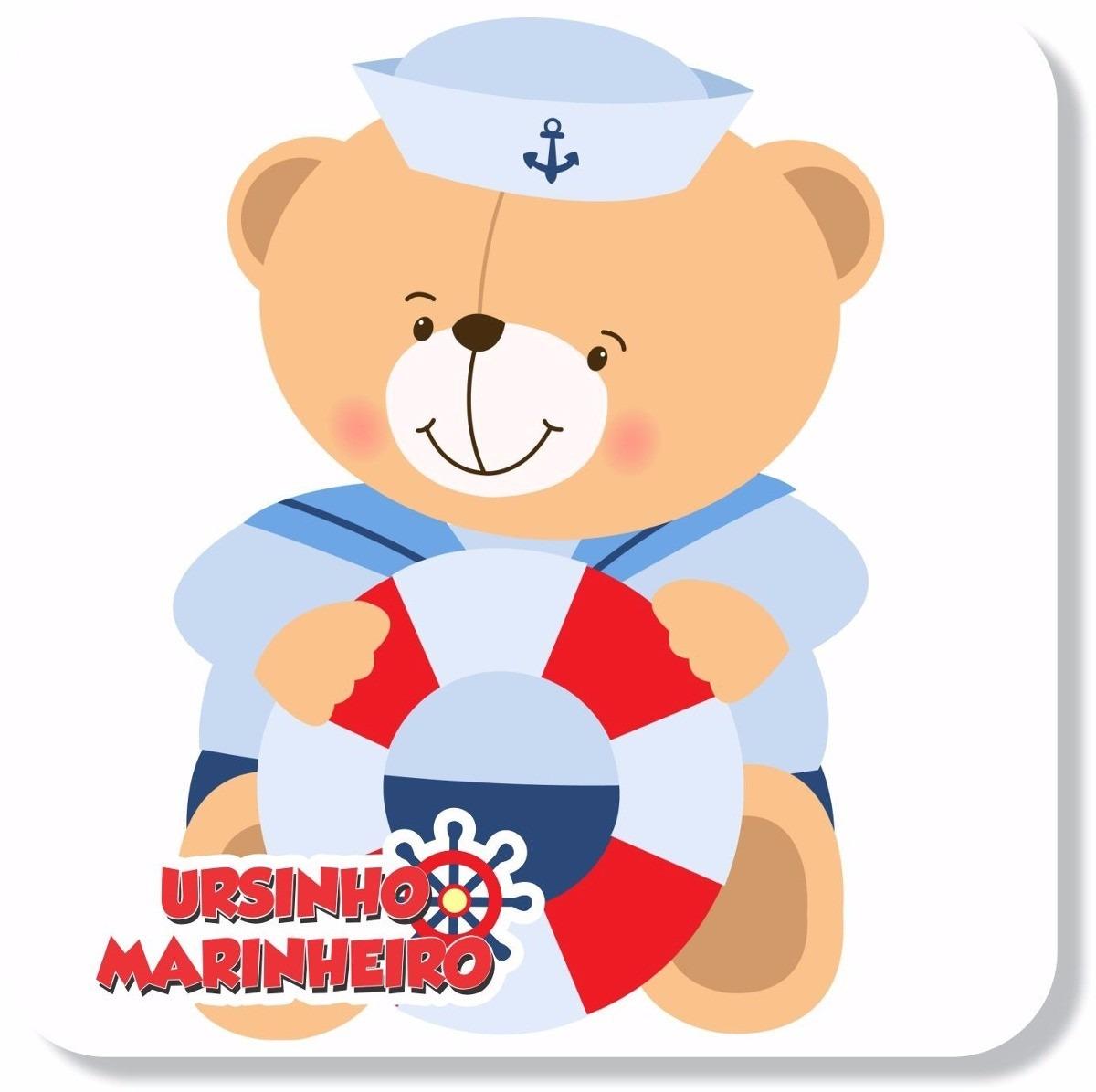 Aparador Ferro Com Vidro ~ Adesivo Parede Ursinho Urso Marinheiro Infantil R$ 119,90 em Mercado Livre