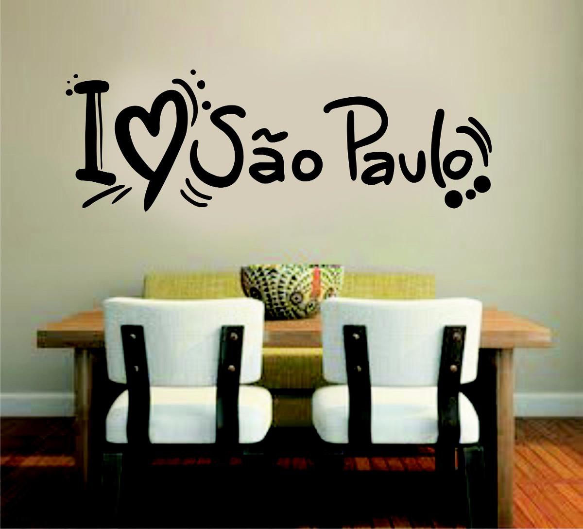 Armario Que Vira Mesa Tok Stok ~ Adesivo Parede Viagem Cidade Brasil Frase I Love S u00e3o Paulo