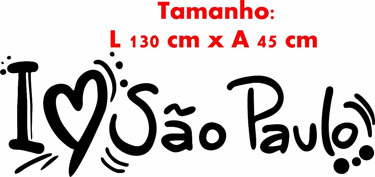 Adesivo De Parede Viagem ~ Adesivo Parede Viagem Cidade Brasil Frase I Love S u00e3o Paulo